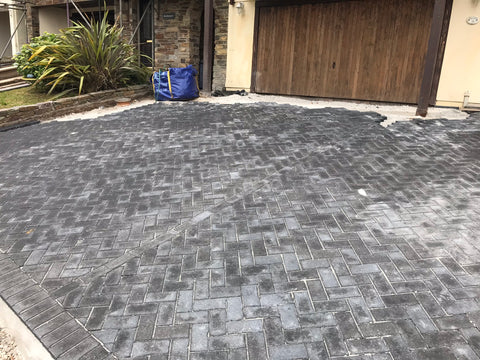 Poor installation of block paving