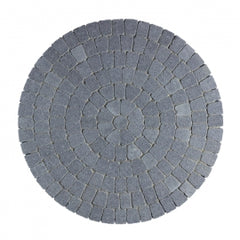 Charcoal Tegula Circles Block Paving