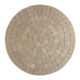 Golden Tegula Circles Block Paving