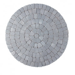 Natural Tegula Circles Block Paving