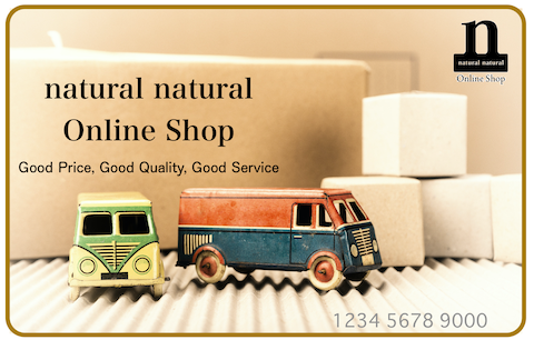 natural natural Online Shop Point Card