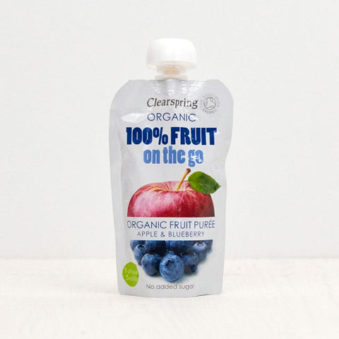 Organic 100% Fruit On The Go - Apple & Blueberry Puree 120g
