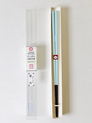 Japanese Traditional Colour Chopsticks - Ai jiro (Indigo white)