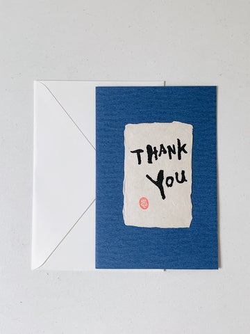 "Greeting Card - ""Thank you"" (English)"