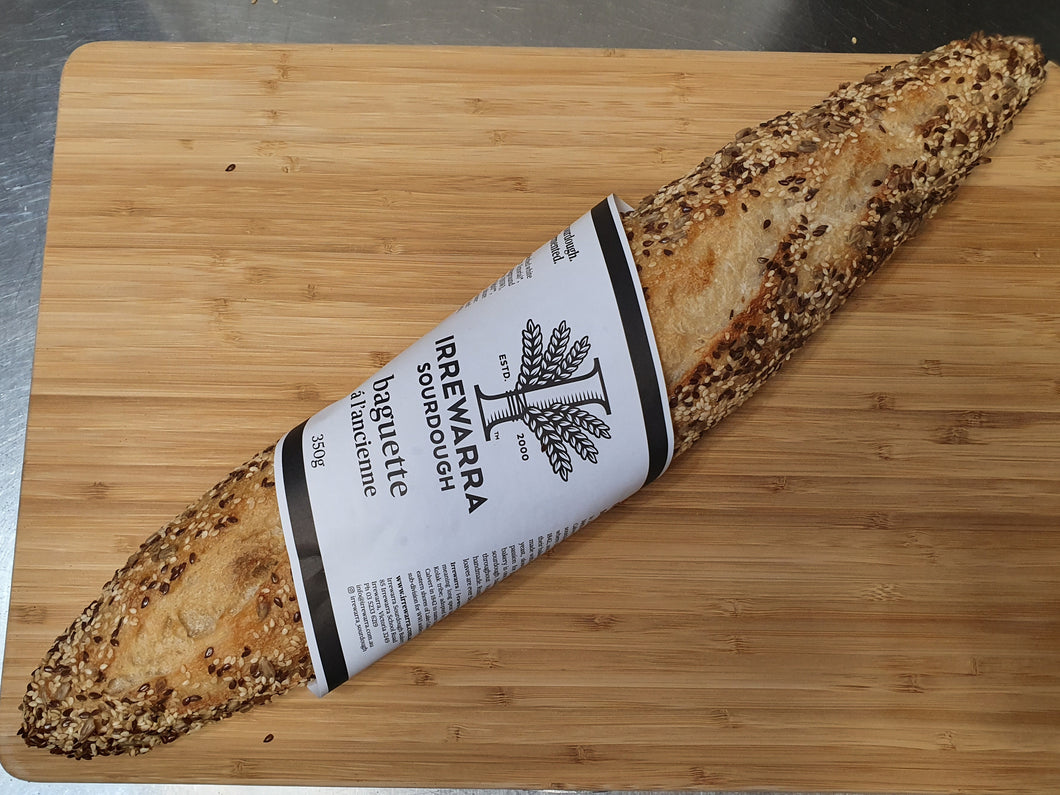 Irrewarra Sourdough Baguette with Mixed Seeds