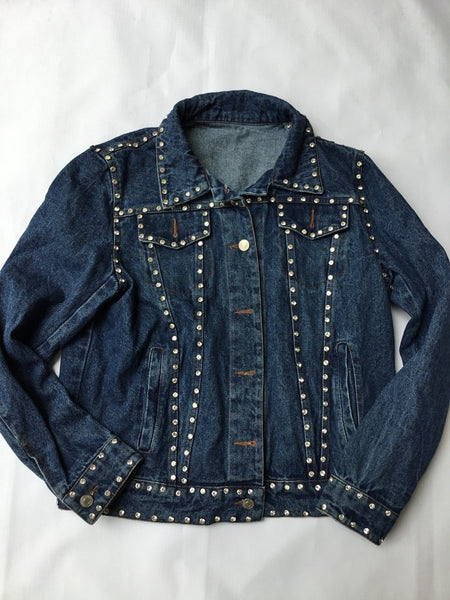 Ope Lady by XinShun Jeans Womens Denim Jacket with crystal studs.