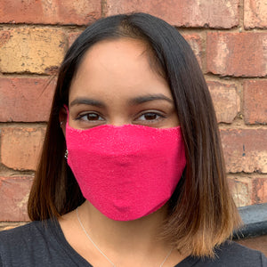 Adults One Piece Mask - Bright Pink