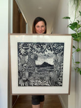 "Load image into Gallery viewer, Original Limited Edition Hand Printed Lino ""Aragunnu, Mimosa Rocks National Park"""