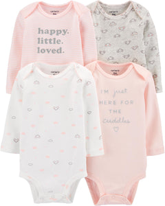 Carter's Kız Bebek Happy Little Loved 4'lü Body Set