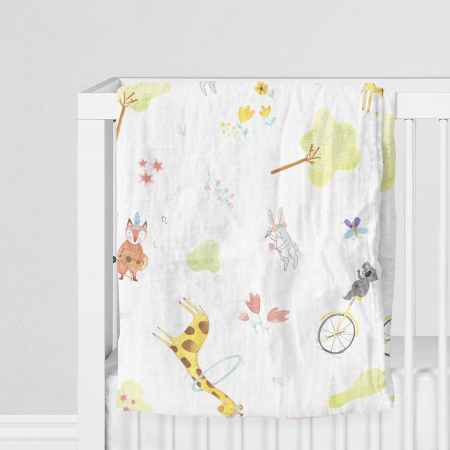 Happy Folks Boho Team Fun Müslin Örtü