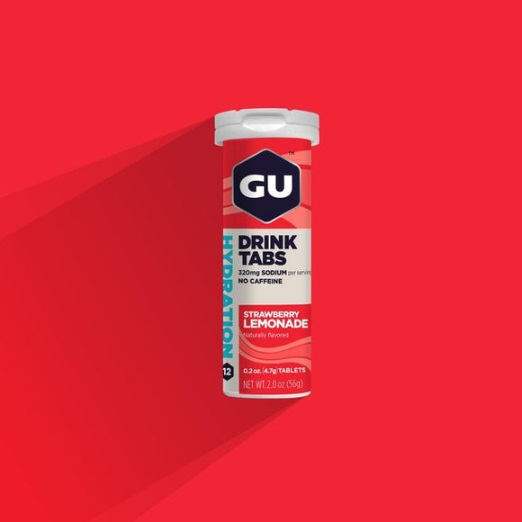 Gu Hydration Drink Tabs- Strawberry Lemonade