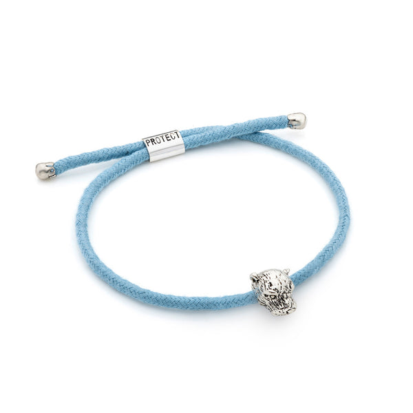 Light Blue Eco-Friendly Otter Charm Bracelet