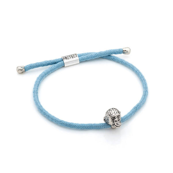 Light Blue Eco-Friendly Chimpanzee Charm Bracelet