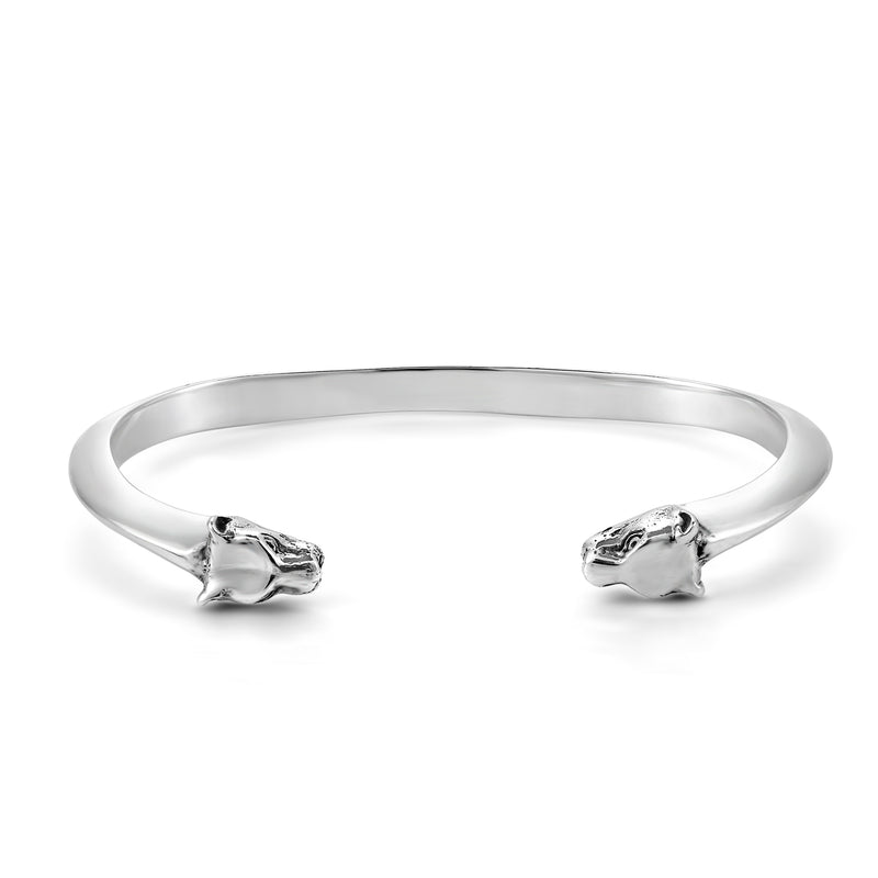 STERLING SILVER LIONESS CUFF