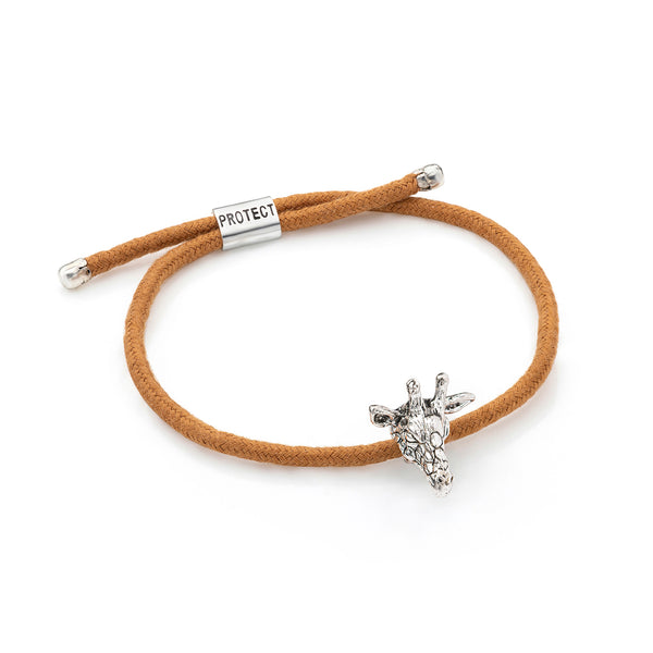 Brown Eco-Friendly Giraffe Charm Bracelet