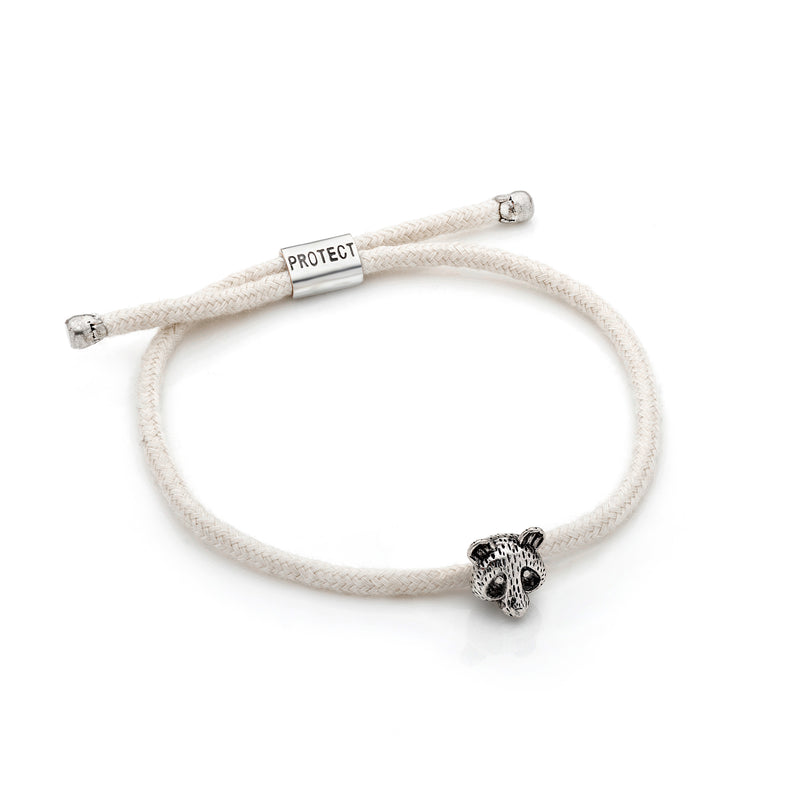 White Eco-Friendly Panda Charm Bracelet