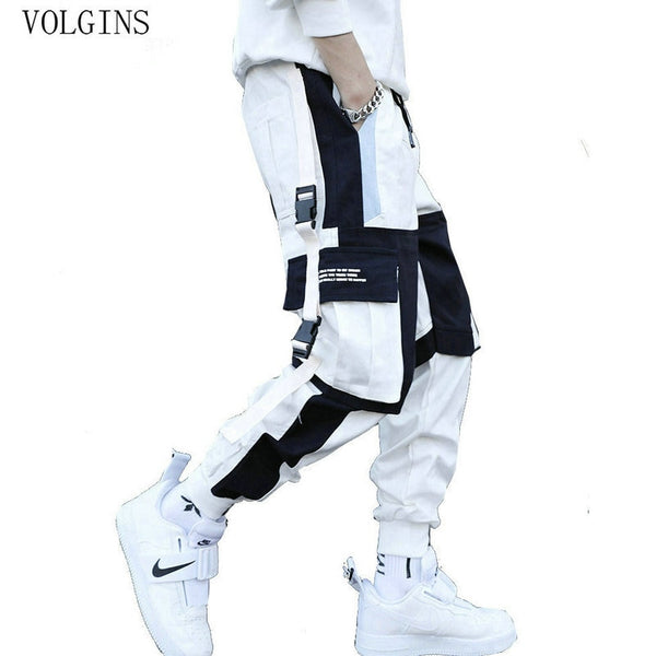 Streetwear Men's Multi Pockets Cargo Harem Pants Hip Hop Casual Male Track Pants Joggers Trousers Fashion Harajuku Men Pants