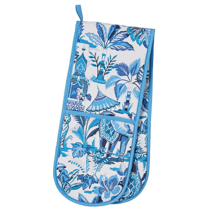 Ulster Weavers Luxury 100% Cotton Double Oven Glove - India Blue