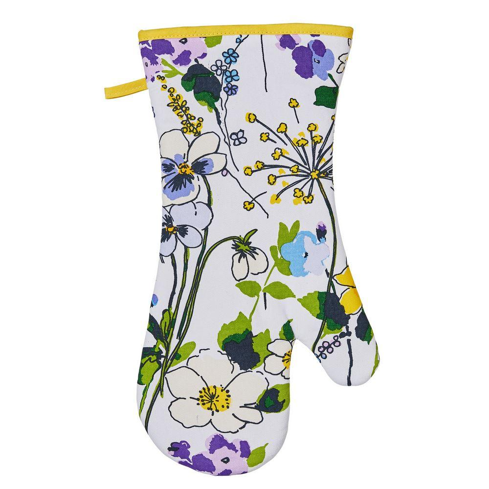 Ulster Weavers Luxury 100% Cotton Single Oven Glove (Gauntlet) - Wildflower