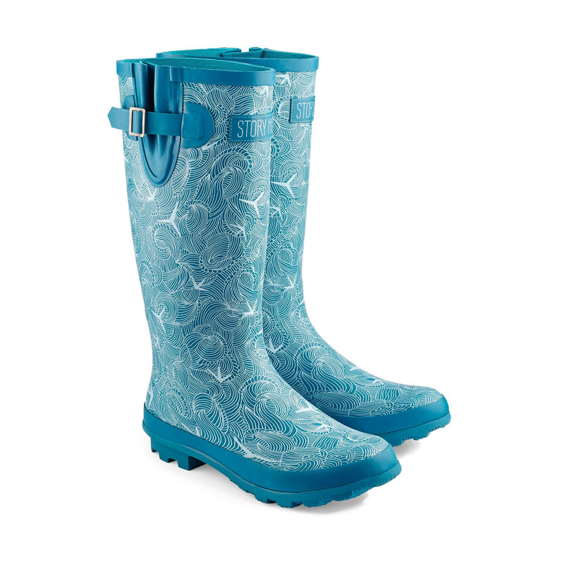 Story Horse Wellies Size4 Rule The Waves