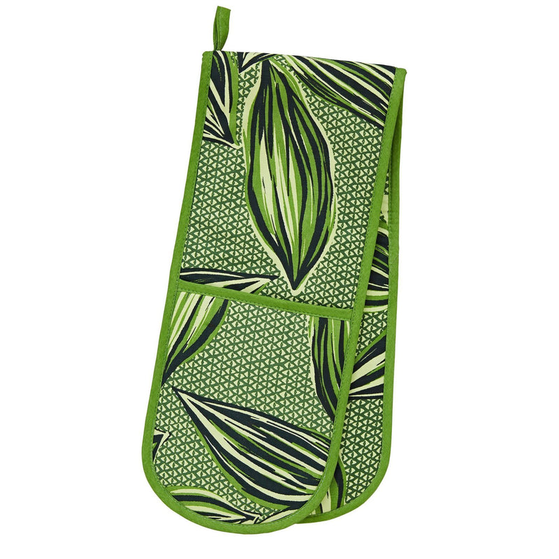 Ulster Weavers Double Oven Gloves - Geo Leaves