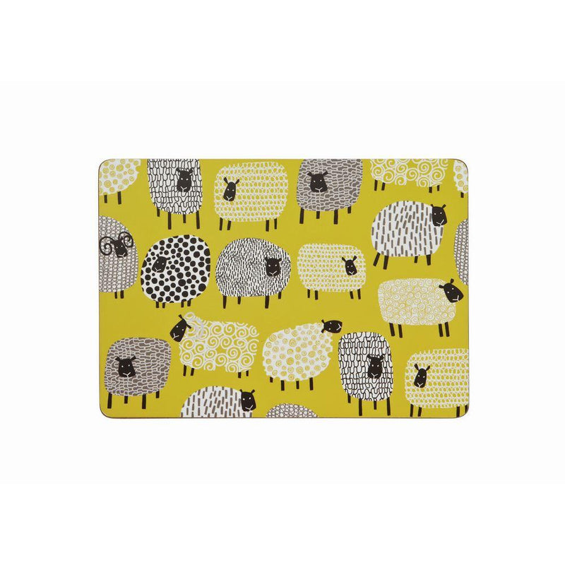 Corked Placemat 4Pk Dotty Sheep