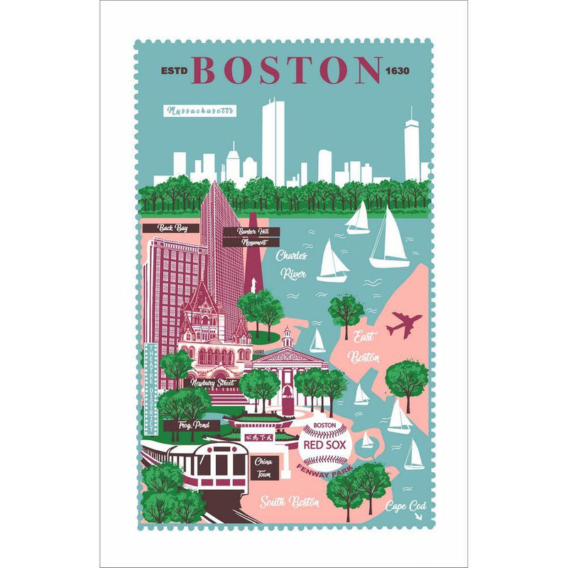 Boston Cotton Tea Towel