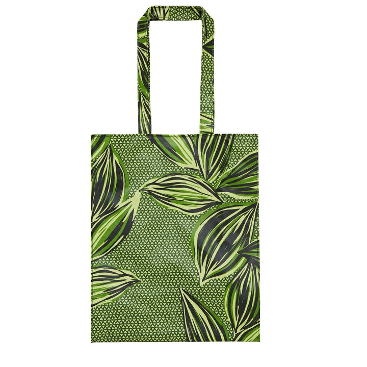 Ulster Weavers Wipeable PVC Gusset Bag - Geo Leaves (Medium)
