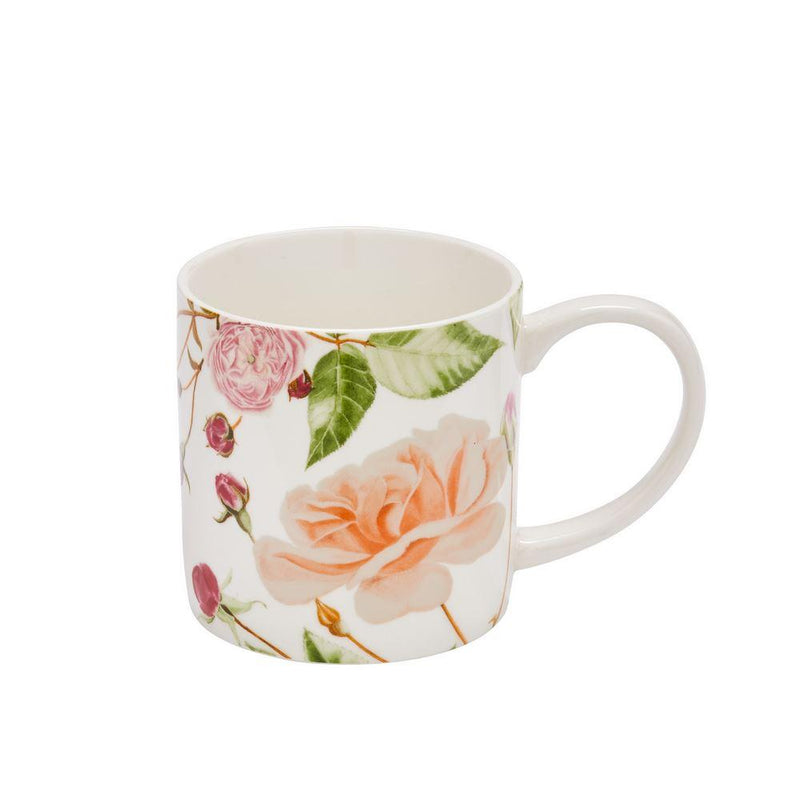 Straight Sided Mug Traditional Rose