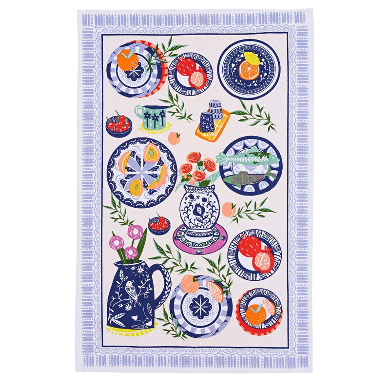 Ulster Weavers 100% Cotton Tea Towel - Mediterranean Plates