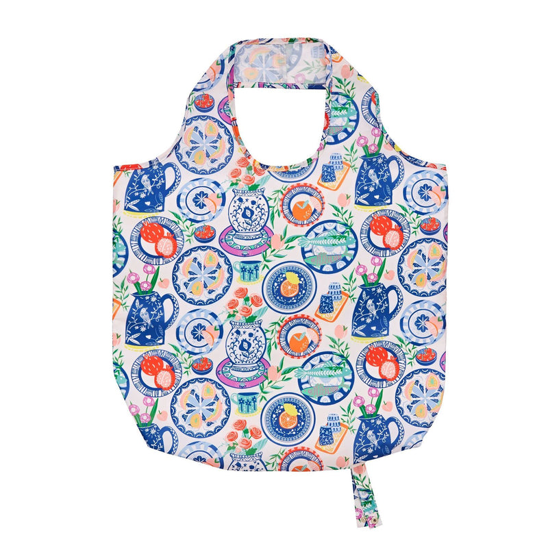 Ulster Weavers Roll-Up Bag - Mediterranean Plates