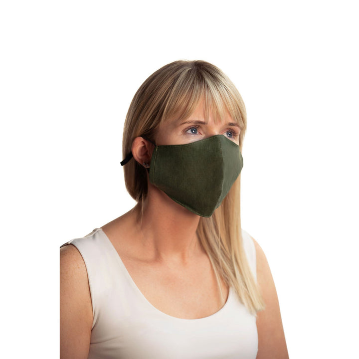 Ulster Weavers Linen Face Covering - Moss Green