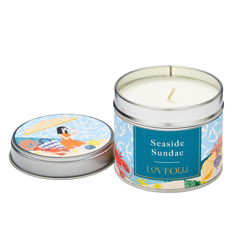 LoveOlli Seaside Sundae Candle In A Tin