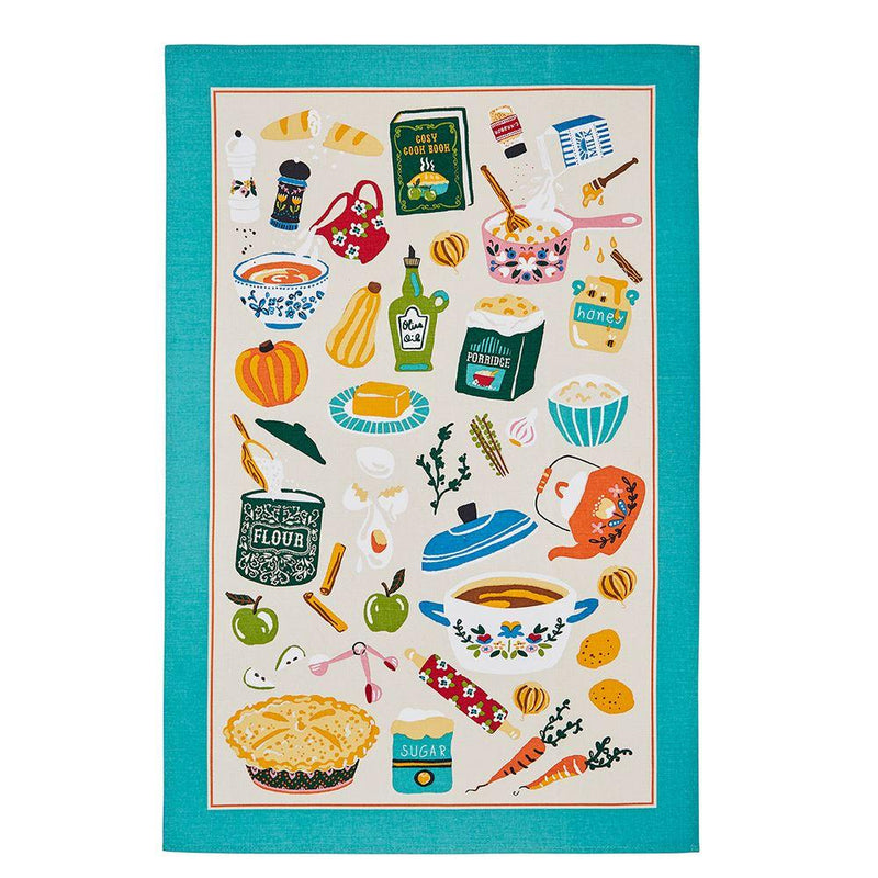Cosy Food Cotton Tea Towel