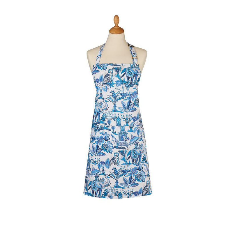 Cotton Apron India Blue