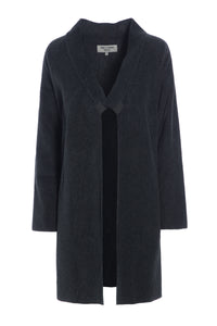 CARDIGAN MED LANGE SLIDSER - 7117 - SOFT BLACK
