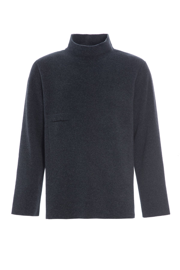 CARL BY STEFFENSEN COPENHAGEN Sweater med høj hals - 1003 SWEATERS DEEP BLUE 502