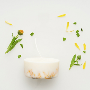 MUNIO CANDELA : Soy Wax Candle:MarigoldFlowers 220ml