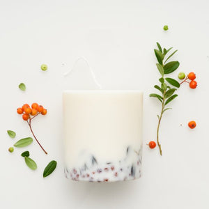 MUNIO CANDELA Soy Wax Candle:Ashberry & bilberry CANDLE 515ml