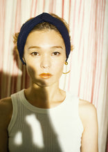 画像をギャラリービューアに読み込む, CANOÉ collaborating with shuco HAIR BAND MAT NAVY #HB0010f