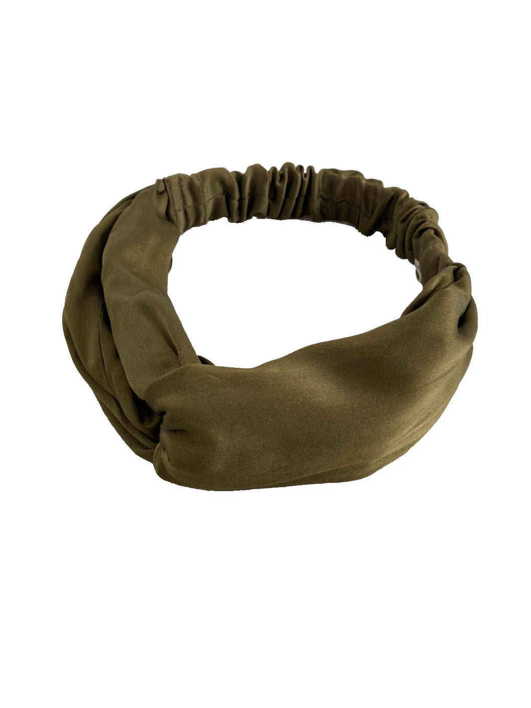 CANOÉ collaborating with shuco HAIR BAND SHINY KHAKI #HB0020f