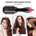 One-Step Hair Dryer And Volumizer Hot Air Brush, Black | broadway rd