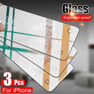 3PCS Tempered Glass For iPhone 11 Pro Max X XS Max XR Screen Protector Glass For iPhone 7 8 Plus 6 6s Plus iPhone SE 2020 Glass | broadway rd