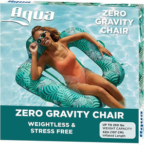 AQUA 4-in-1 Monterey Hammock Inflatable Pool Float, Multi-Purpose Pool Hammock (Saddle, Lounge Chair, Hammock, Drifter) Pool Chair, Portable Water Hammock, Golden Sunshine