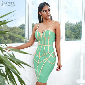 Spaghetti Strap Sleeveless Club Celebrity Evening Party Dress