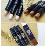 Concealer Cream Brighten Contour Bronzer Highlighter Stick Double-end Pen Foundation Bases Makeup | broadway rd