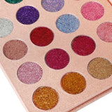 24 Colors Glitter Eyeshadow Pallete Brand Beauty Cosmetics Diamond Pressed Glitter Eye Shadow Pigment Make up Palette | broadway rd