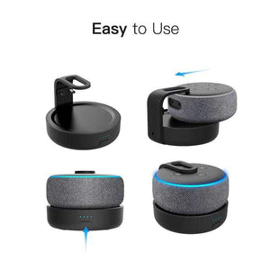 GGMM Original Portable Battery Base For Amazon Echo Dot 3rd Gen Rechargable Docking Station For Alexa Speaker with 8 Hours Play | broadway rd