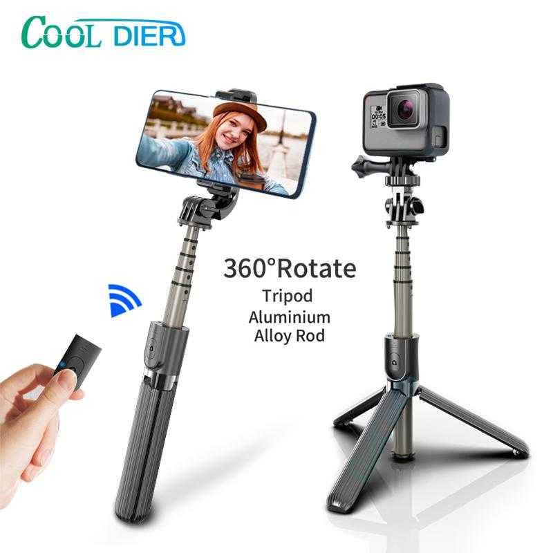 High quality Wireless bluetooth Selfie Stick Tripod With Remote Palo Selfie Extendable Foldable Monopod For Iphone Action Camera