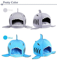 Load image into Gallery viewer, Hot Sell Dog Bed Shark Mouse Shape Washable House Pet Bed Cat House Removable Cushion Pet Bed Shark Dog House For Small Dog | broadway rd